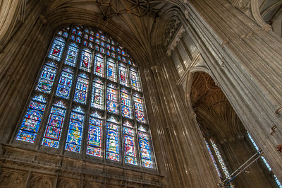 Inside the Canterbury Cathedral in Canterbury, England