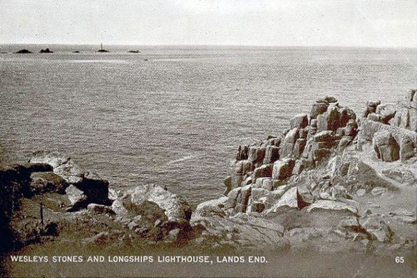 Wesley's Stones and Longships Lighthouse