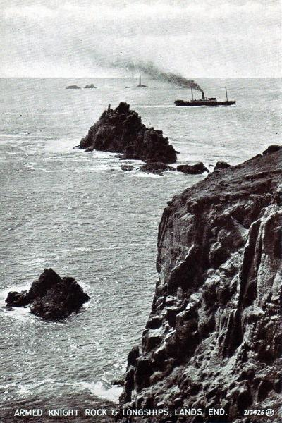 Armed Knight Rock and Longships Lighthouse