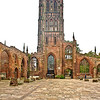 "Coventry Cathedral, also known as St Michael's Cathedral, is the seat of the Bishop of Coventry and the Diocese of Coventry, in Coventry, West Midlands, England. The current (9th) bishop is the Right Revd Christopher Cocksworth.<br /> The city has had three cathedrals. The first was St. Mary's, a monastic building, only a few ruins of which remain. The second was St Michael's, a 14th century Gothic church later designated Cathedral, that remains a ruined shell after its bombing during the Second World War. The third is the new St Michael's Cathedral, built after the destruction of the former and a celebration of 20th century architecture. St Michael's church was largely constructed between the late 14th century and early 15th century. It was one of the largest parish churches in England when, in 1918, it was elevated to cathedral status on the creation of Coventry Diocese.[6] This St Michael's Cathedral now stands ruined, bombed almost to destruction during the Coventry Blitz on 14 November 1940 by the German Luftwaffe. Only the tower, spire, the outer wall and the bronze effigy and tomb of its first bishop, Huyshe Wolcott Yeatman-Biggs, survived. <a href=""http://en.wikipedia.org/wiki/Coventry_Cathedral"">http://en.wikipedia.org/wiki/Coventry_Cathedral</a> ."
