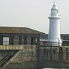 Prince of Wales Pier Lighthouse and Southern Breakwater Lighthouse. Dover, England.