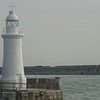 Prince of Wales Pier Lighthouse and Southern Breakwater Lighthouse. Dover England.