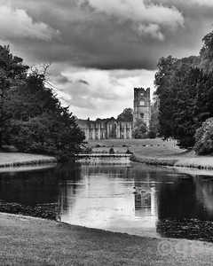 ABBEY REFLECTIONS IN BLACK AND WHITE
