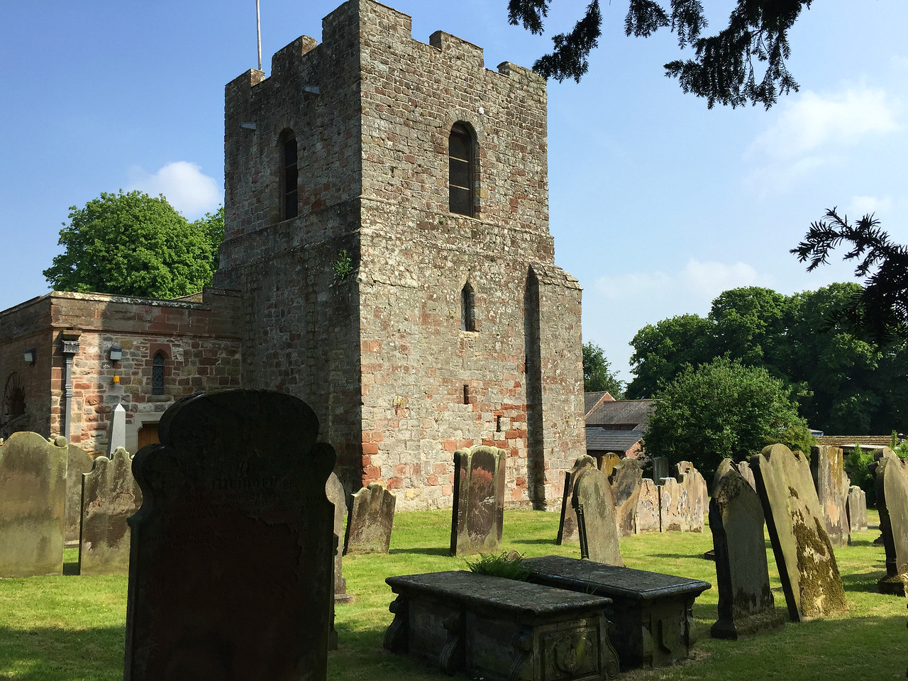 St Michael's Church, Burgh-by-Sands: This 12th century church was built on the foundation of a Roman Fort, with stones from the wall. In 1307 Edward I was brought here to lie in state after being killed during the uprising of Robert the Bruce.