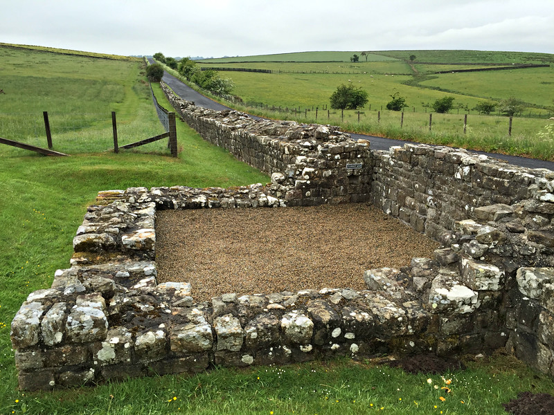 Turret 49B. Two small watchtowers, or turrets, were built between each milecastle.