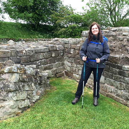Ready to walk Hadrian's Wall Path - rain or shine!