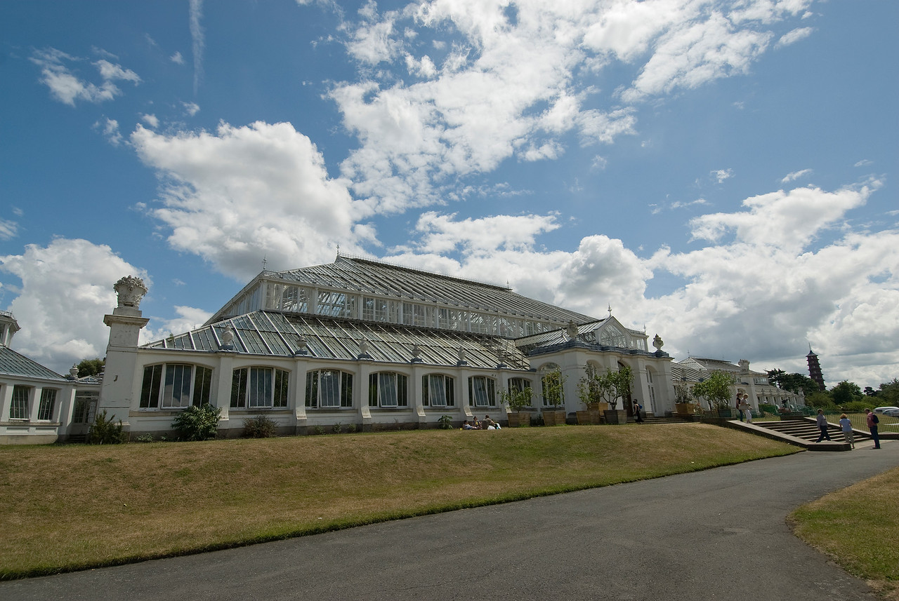 The Temperate House at the Royal Botanical Gardens in Kew, England