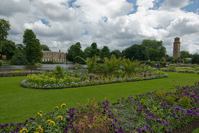 Beautiful landscape at the Royal Botanical Gardens in Kew, England