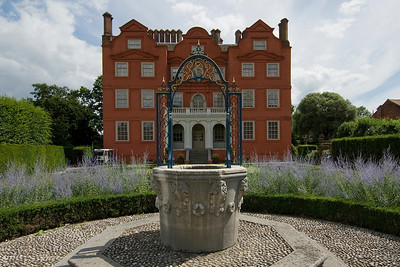 Fountain outside the Dutch House in the Royal Botanical Gardens in Kew, England