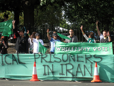 Protesting Iran Involvement