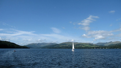 Sailboat on Lake Windermere