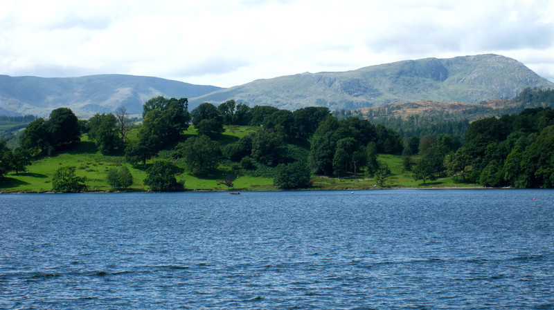 Pretty views from a boat on Lake Windermere