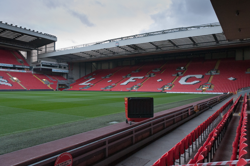 Anfield Stadium in Liverpool, England