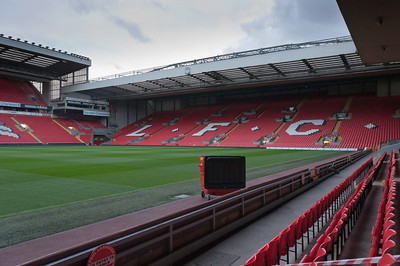 Fans section at the Anfield Stadium - Liverpool, England