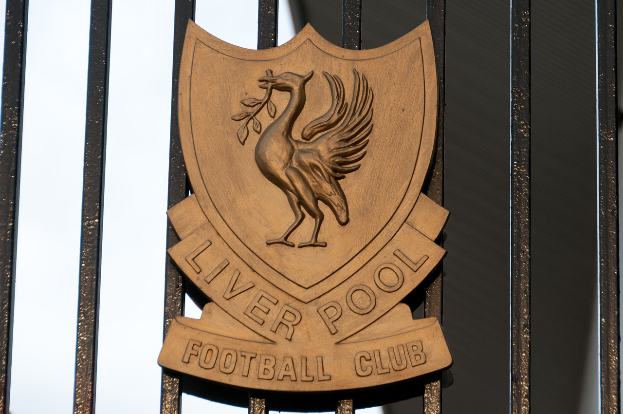 The Liverpool Football Club sign spotted in Liverpool, England