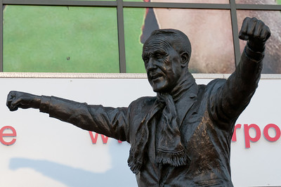 Sculpture of a man spotted in Liverpool, England
