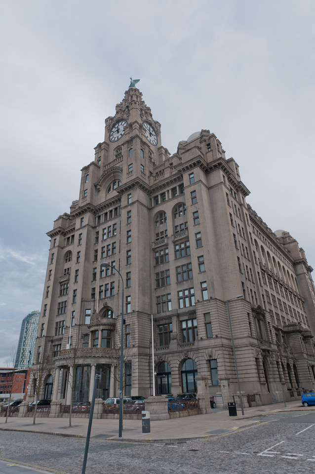 The Royal Liver Building in Liverpool, England