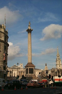 Nelson's Column in Trafalgar Square - London, England