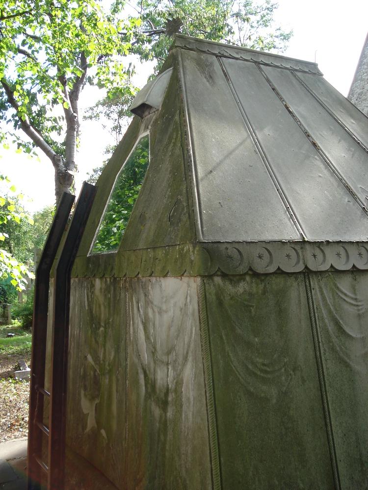 Burton Mausoleum - viewing window