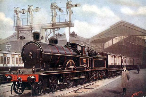 The Scotch Express leaving Euston.