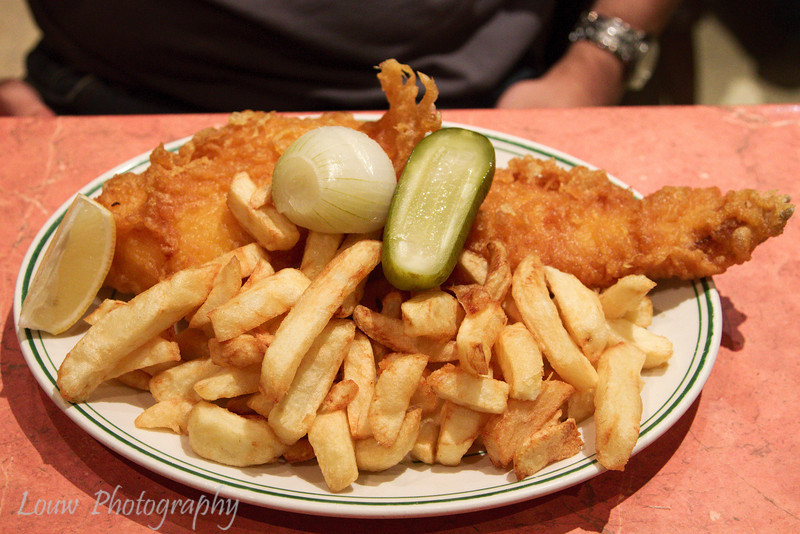 Fish and Chips at Masters Super Fish, London, England