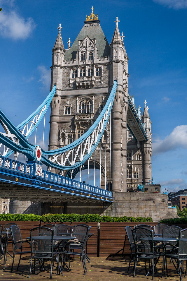 Views of the iconic Tower Bridge In London, England.