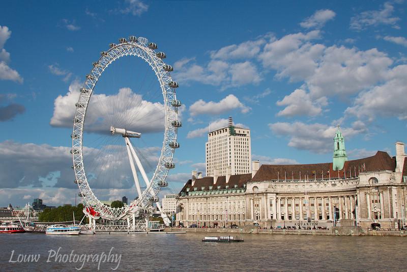 London Eye and County Hall, London, England