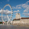 London Eye and County Hall, London, England