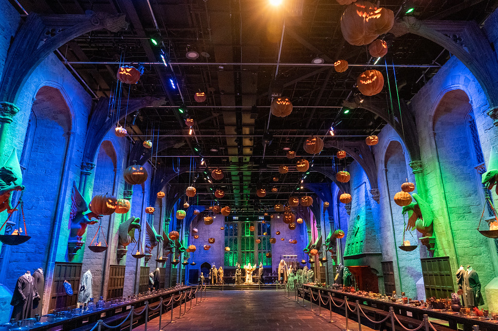 The Great Hall set at Halloween