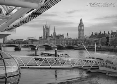 Skyline from Base of London Eye