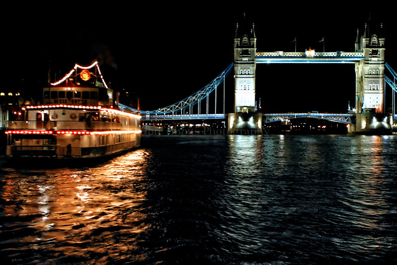 Tower Bridge on the Thames River. London, England.