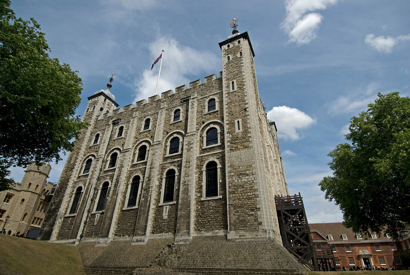 Side profile of the Tower of London - England