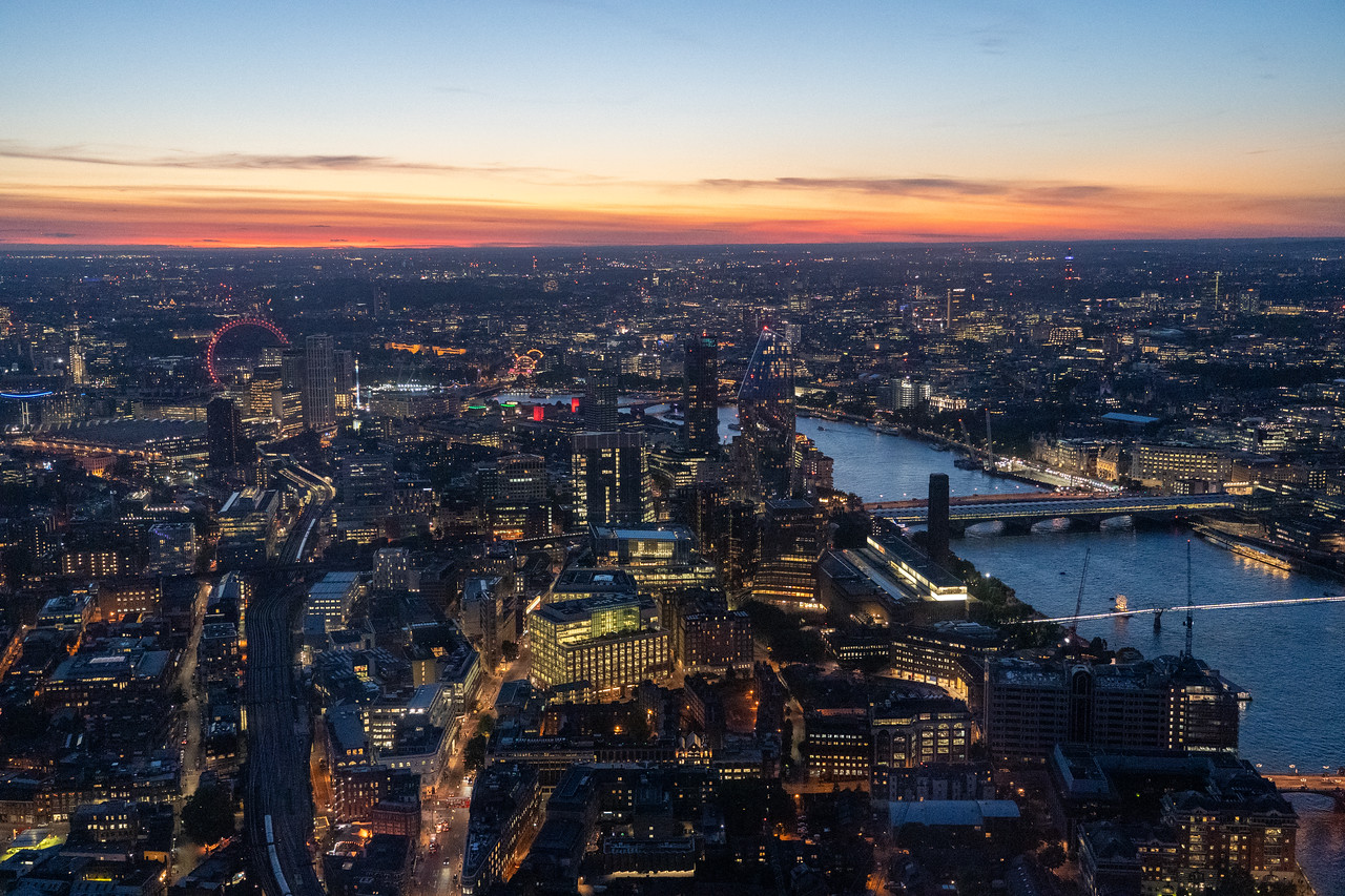 Sunset views from The Shard