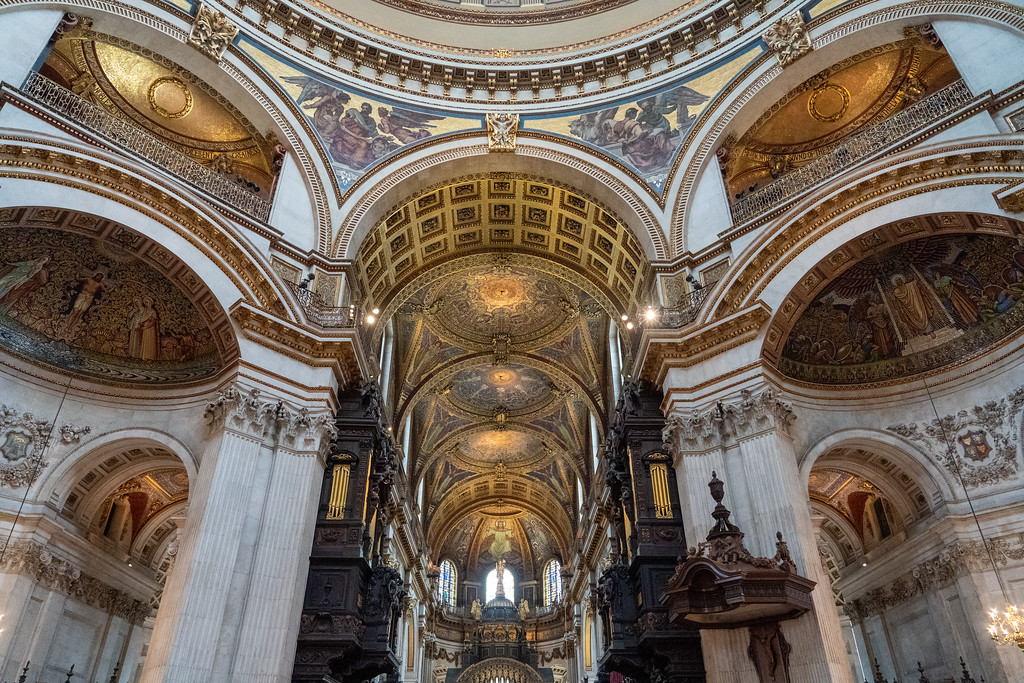 Inside St. Paul's Cathedral in London