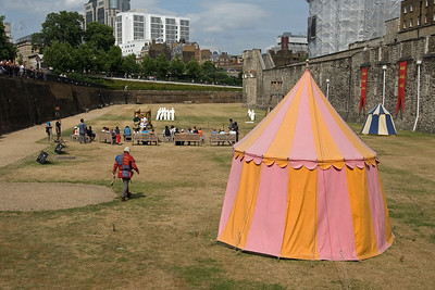 Tents outside the Tower of London - London, England
