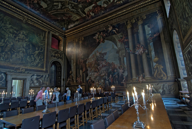 Inside the Royal Naval College in Greenwich, England