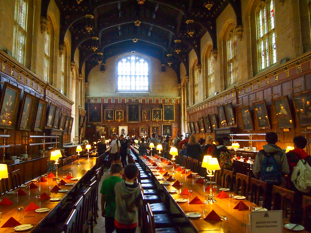 Dining hall at Christ Church College in Oxford