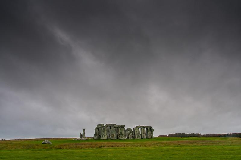 The prehistoric Stonehenge in Wiltshire, England