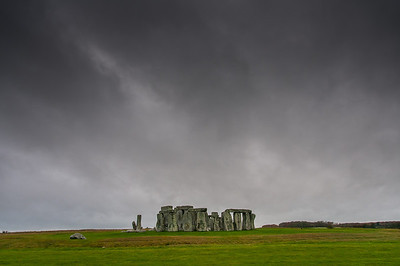 The prehistoric Stonehenge in Wiltshire, England