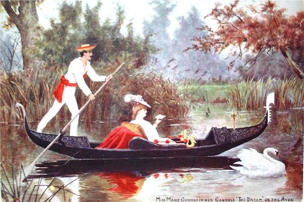 In her Gondola on the Avon