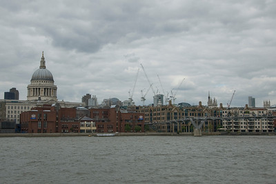 View of the Westminster skyline across the Thames River - England