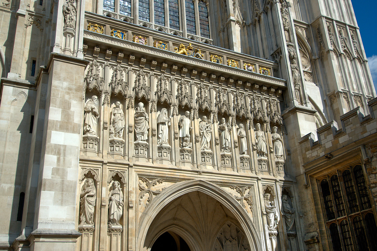 Details of the Westminster Abbey in Central London - England