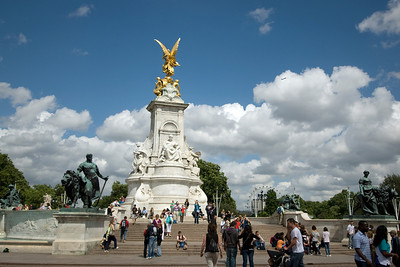 The Victoria Memorial in Trafalgar Square - England