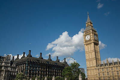 The Big Ben and London Eye - Westminster, England