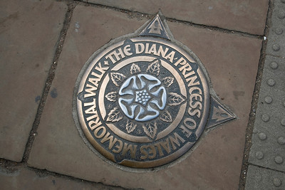 Sign at the Diana Princess of Wales Memorial Walk - Westminster, England