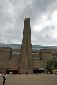 The facade of Tate Modern in Westminster, England