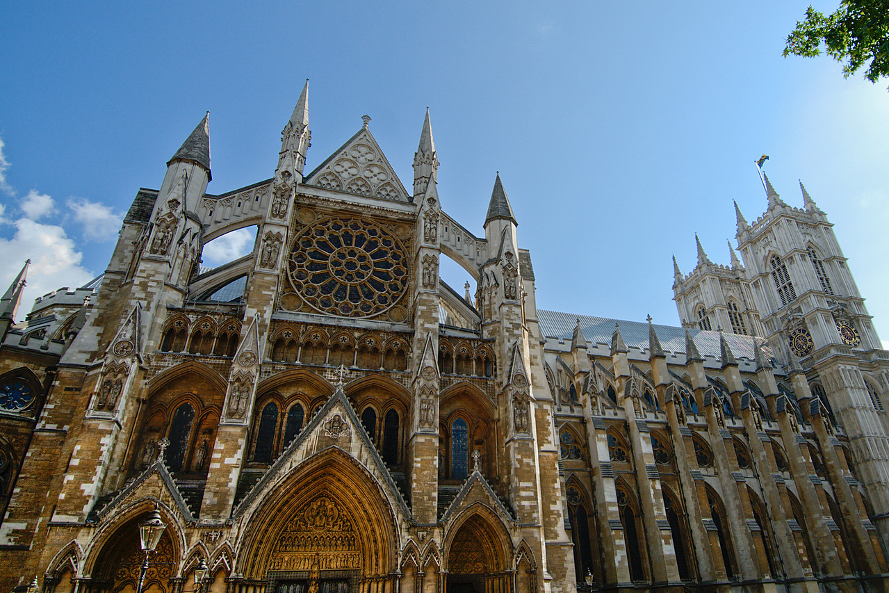 The Westminster Abbey in Central London - England