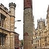 "Roman Column. This Roman Column once stood within the great hall of the headquarters building of the fortress of the sixth legion (whose emblem was a bully in the fourth century A.D. It was found in 1969 during the excavation of the south transept of the Minster. Lying where it had collapsed.  It was given by the Dean and Chatper to the York Civic Trust, who in 1971 erected it on this site to mark the 1900th aniversary of the foundation of the city by the Romans in A.D. 71. (text from column). York is a walled city, situated at the confluence of the Rivers Ouse and Foss in North Yorkshire, England. The city has a rich heritage and has provided the backdrop to major political events throughout much of its two millennia of existence. The city was founded by the Romans in 71 AD. They called it Eboracum, a name perhaps derived from one used by the British tribes who inhabited the area. The Romans made it the capital of their Province of Britannia Inferior.[4] At the end of Roman rule in 415 AD the settlement was taken over by the Angles and the city became known as Eoforwic. The city came to be the episcopal, and later, royal centre of the Kingdom of Northumbria.[5] The Vikings captured the city in 866 AD, and for the period between 866 and the final incorporation of Northumbria into the Kingdom of England in 954, York is sometimes referred to by modern writers by its Scandinavianised form, Jórvík. The name in its modern form ""York"" was first used in the 13th century. Renowned for its Roman, Viking, and Medieval heritage and wealth of attractions like and the iconic York Minster and JORVIK York is fast developing a flourishing cutting edge scene.   Broaden your mind with a visit to world class museums like the National Railway Museum and with a host of magnificent events, entertaining guided walks and boat trips on the River Ouse, there is something to keep you entertained throughout your stay.   Delve into the city's vibrant café culture or simply watch the world go by while sipping a drink at a riverside stylish bar or in one of the many cities' heritage taverns. <a href=""http://www.visityork.org/"">http://www.visityork.org/</a> ."
