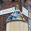 "The Figure above is that of Minerva, Goddess of wisdom and of drama by John Wolstenholme. 1801. (from display). York is a walled city, situated at the confluence of the Rivers Ouse and Foss in North Yorkshire, England. The city has a rich heritage and has provided the backdrop to major political events throughout much of its two millennia of existence. The city was founded by the Romans in 71 AD. They called it Eboracum, a name perhaps derived from one used by the British tribes who inhabited the area. The Romans made it the capital of their Province of Britannia Inferior.[4] At the end of Roman rule in 415 AD the settlement was taken over by the Angles and the city became known as Eoforwic. The city came to be the episcopal, and later, royal centre of the Kingdom of Northumbria.[5] The Vikings captured the city in 866 AD, and for the period between 866 and the final incorporation of Northumbria into the Kingdom of England in 954, York is sometimes referred to by modern writers by its Scandinavianised form, Jórvík. The name in its modern form ""York"" was first used in the 13th century. Renowned for its Roman, Viking, and Medieval heritage and wealth of attractions like and the iconic York Minster and JORVIK York is fast developing a flourishing cutting edge scene.   Broaden your mind with a visit to world class museums like the National Railway Museum and with a host of magnificent events, entertaining guided walks and boat trips on the River Ouse, there is something to keep you entertained throughout your stay.   Delve into the city's vibrant café culture or simply watch the world go by while sipping a drink at a riverside stylish bar or in one of the many cities' heritage taverns. <a href=""http://www.visityork.org/"">http://www.visityork.org/</a> ."