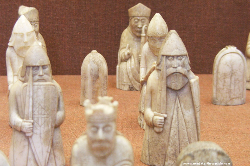 The Lewis Chessmen, British Museum, London, England.